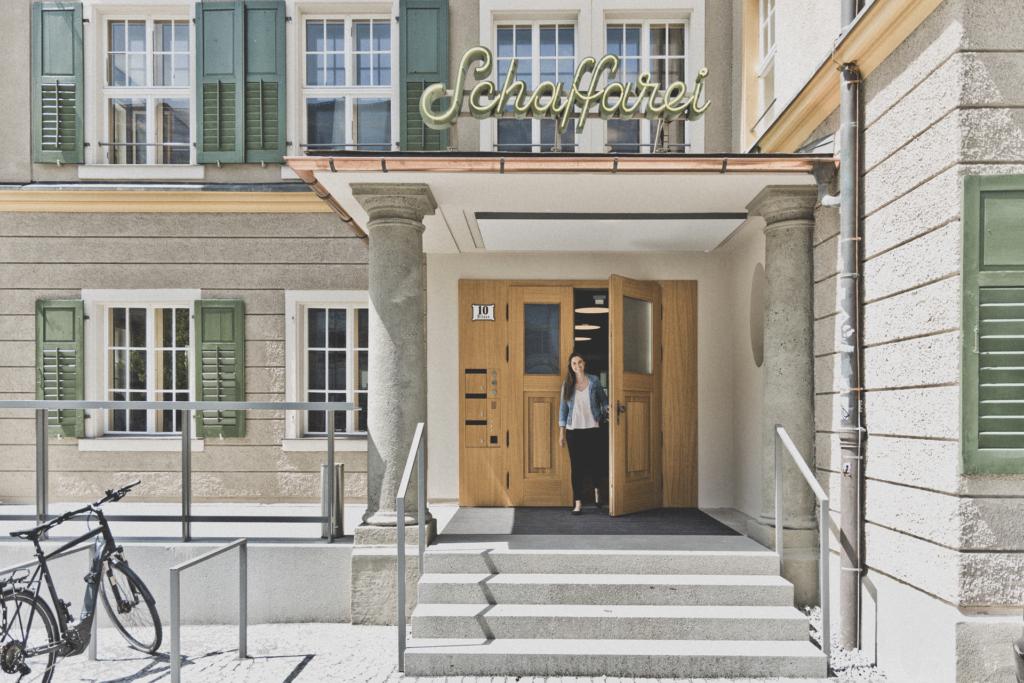 Schaffarei Haus Eingang